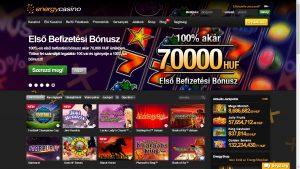 Energy casino lobby
